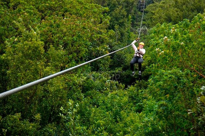 Experience the most breath taking views in Monteverde, the Extremo Monteverde Park <br><br>Get ready for:<br><br>-14 cables of zip line<br>-Rappel (30 mts)<br>-Tarzan Swing <br>-Superman cable of 1 km <br>-Subterranean Superman:175 mts long<br>-21 platforms<br>Total distance: 4km<br><br>
