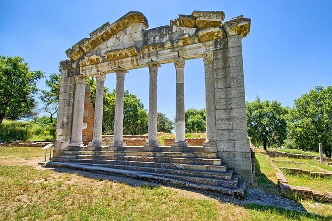 "This is a lovely tour that shows one of the oldest towns in Albania. First, we will get back to antiquity by visiting Apollonia, a city that was found in the 7th century B.C., by Greek settlers from Corinth and Corcyra. In the first century B.C., Octavian Augustus studied philosophy there until he heard news of Caesar's murder in the Senate and went on to become the next emperor. Berat castle it is the biggest inhabited castle in Albania. Our guide will show you the way how the Albanians live and how they have built the typical houses in central Albania. We will also visit the lower part of the town where we will see the Mangalemi neighborhood which gives the nickname of the ""1000 Windows"" city. Afterwards we will return from a different route which makes another highlight of this daytrip. The road is through the countryside and shows how the agriculture is developed in the central Albania. We will get to see hills, cultivated fields and natural lakes."