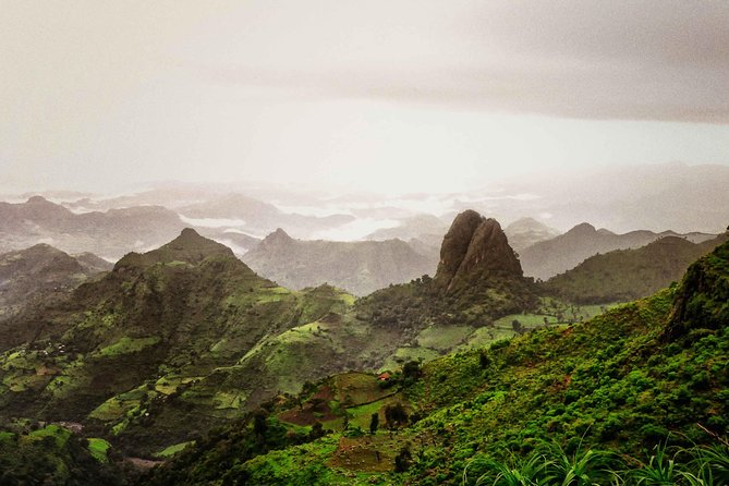 "Simien Mountains - ""Chess pieces of the gods""<br><br>The Simien Mountains present the most dramatic mountain scenery in Africa: ""the chess pieces of the Gods"" as one writer described them, tower over precipitous gorges, river valleys and plains stretching all the way to Eritrea."
