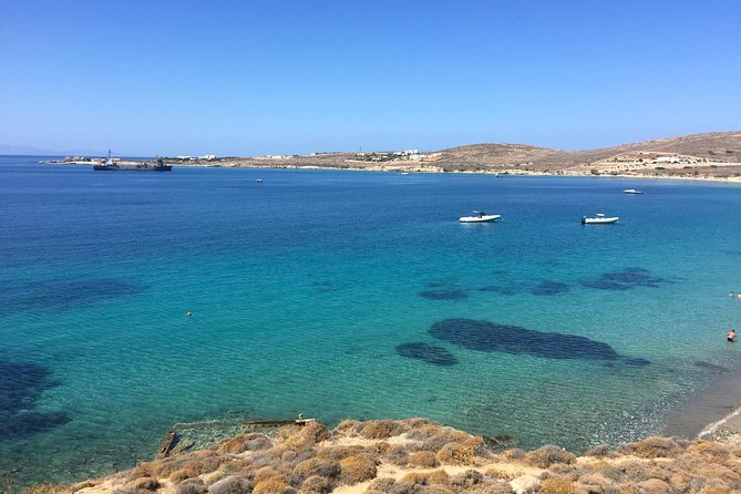 We will start the walking tour in the port town of Parikia where we can grab a pastry from one of the best local bakeries. We will lead you on an off-the beat track to hike through a small mountain to reach a crystal clear beach that is perfect for snorkeling. The hike has some incredible views looking over the heart shaped bay of Paros. This is not a difficult hike, possible to do it for everyone you don't need to be super fit for it.