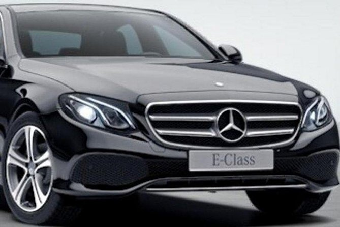 You will be met in by your chauffeur at the reception of your hotel.<br>Stress-free luxury transfer in a Mercedes Benz E220 Executive Class, Suitable for up to 3 passengers with luggage ( 2 x Standard 20 Kg + 2 Small Suitcases)<br>.<br>The vehicle and Chauffeur are fully licensed and insured in accordance with The Irish Government Transport Authority.