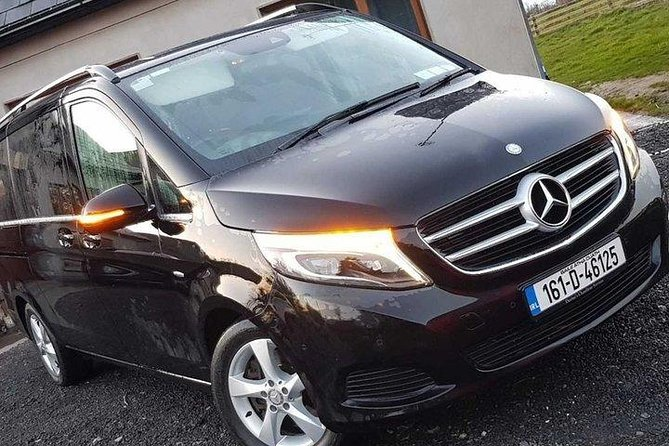 Pick up at The Harvey's Point at coordinated time and <br>Stress-free luxury transfer in a Mercedes Benz MPV / Chrysler Voyager, Suitable for up to 6 passengers with luggage<br>.<br>The vehicle and Chauffeur are fully licensed and insured in accordance with The Irish Government Transport Authority.