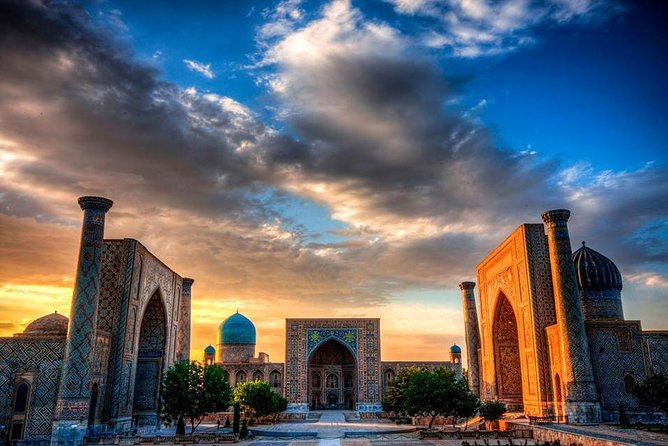 We invite you to visit majestic, beautiful Samarkand city. In this tour you will visit places such as: <br>- Guri Emir mausoleum (XVc.)<br>- Registan square with 3 huge madrasahs: Ulughbek (XVc.), Shirdar (XVIIc.) & <br> Tillakori (XVIIc.), <br>- Shahi Zindah necropolis (XIc.)<br>- Ulughbek Observatory (XVc.), <br>- Bibi Khanum mosque (XIV-XVc.) & Siyab bazaar.