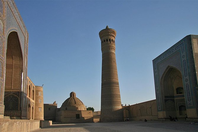 We invite you to visit one of the most ancient city in Central Asia. In this tour you will visit : <br>- Lyabi-Khauz Ensemble, <br>- Magoki-Attori Mosque, <br>- Trade domes, <br>- Kalyan Minaret(1127),<br>- Kalyan Mosque(XII c.), <br>- Miri-Arab Madrasah (1530-1535), <br>- Ulugbek(1417) and Abdulazizkhan(1652) madrasahs, <br>- Ark Fortress (500), <br>- Bolo-Khauz Mosque(1712), <br>- Chor-Minor Madrasah(1807), <br>- Ismail Samani(892-943), <br>- Chashma-Ayub(1208-1209) mausoleums,