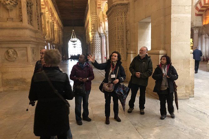 Walking tour of the Cathedral and former the Great Mosque of Cordoba.<br><br>This tour wil be conducted by a local qualified guide<br><br>After the guided tour you will have time to stay in the monument by your own<br><br>And at 16:00 H. you will climb to the former minaret, now the bell tower and will enjoy panoramic views of the city<br><br>Buying this tour you will skip the line to enter to the monument and to climb to the bell tower