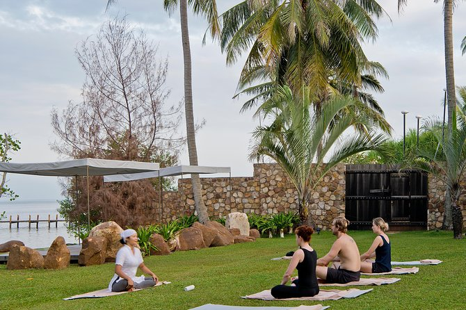 Our Yoga classes are held in quiet areas of our property and in our perfectly manicured tropical lush gardens overlooking the gulf of Thailand