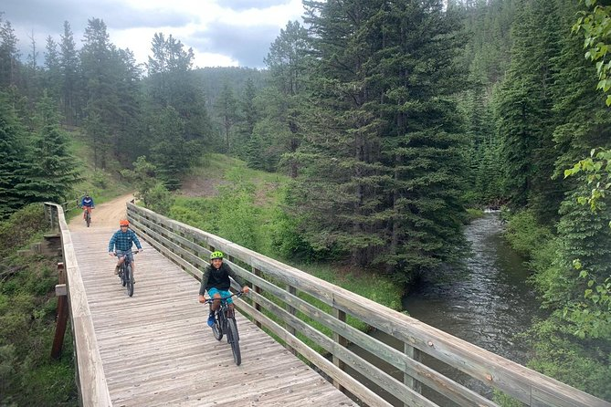 See the Black Hills in a unique way. Enjoy the quiet, scenic trail and let our guides tell you on some of the history, culture and flora and fauna of the area!<br><br>Great fun for any fitness level - we can accommodate all in your group, even if some want to ride and others don't. <br><br>This tour is customizable. Questions? Contact us for more information.
