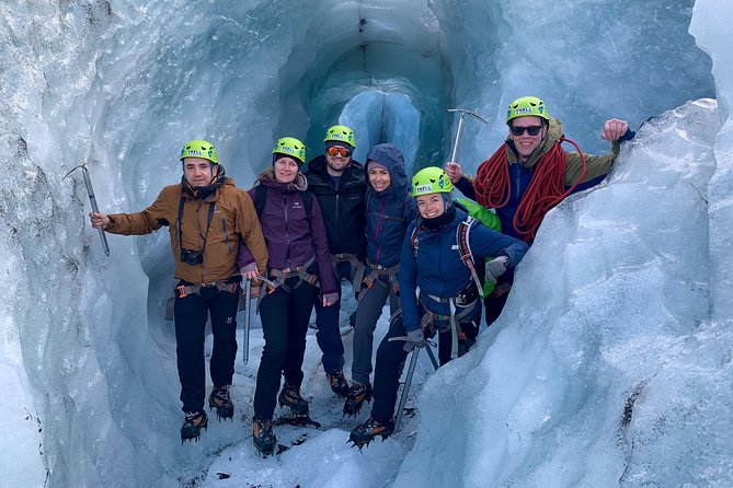 Grab your hiking boots and get ready, because you're going to hike Sólheimajökull glacier in southern Iceland on this 3 hour, small-group tour. This is a comprehensive glacier tour, where you'll learn about these massive natural phenomena from your guide and be provided with all the necessary equipment to get some exercise in full comfort and safety.