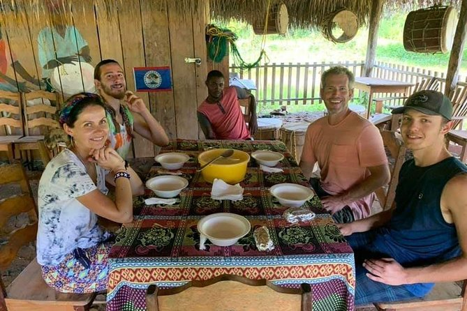 """The perfect way to dive into local culture! Come and experience this Garifuna drumming, dancing and dinner extravaganza. <br><br>Under a beautiful traditional Thatch Palapa on the edge of Punta Gorda town, you will be given a brief overview of the fascinating Garifuna people and culture of southern Belize. <br><br>You will then be treated to a 45 minute professional group performance of a number of traditional rhythms and songs. If your feet start to tap along, then don't despair, as you'll be given the opportunity to join the traditional dancing lesson at the end. <br><br>Once you have worked up a slight sweat and earned your dinner, it's time to sit down, relax and enjoy a traditional Garifuna meal of """"hudut"""" - fillet fish sauteed in lightly seasoned coconut milk, served with mashed plantain."""