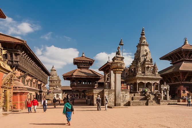 On this day tour from Kathmandu, enjoy the city of Bhaktapur and the village of Nagarkot.  Bhaktapur Durbar Square, located 15 km from Kathmandu, is a museum of medieval art and architecture with many examples of sculptures, woodcarvings and colossal pagoda temples consecrated to different gods and goddesses. Nagarkot, a village located 32 km east of Kathmandu, is considered one of the most scenic spots in Bhaktapur District and is known for its sunrise and sunset views of the Himalayas. Nagarkot also offers a panoramic view of the Kathmandu Valley. The scenic beauty of this place located 7000 ft above sea level makes it a very popular hiking route for tourists.