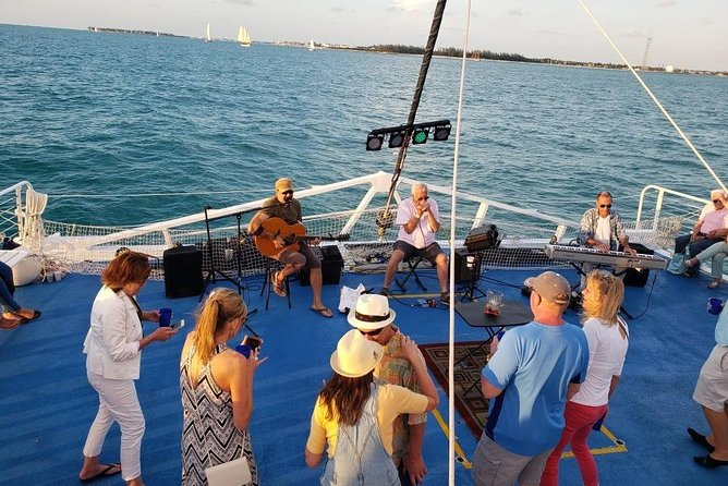Come sail along on an ocean breeze and enjoy some of Key West's best musicians performing live to the backdrop of the setting sun. You'll eat, drink and party the night away on Key West's live music sunset sail. So grab someone's hand and let the music move you as we chase down the world famous Key West sunset.