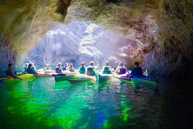 Paddle on the Beautiful Colorado River to Emerald Caves Clear glowing water. This will be a 4.5 mile roundtrip.