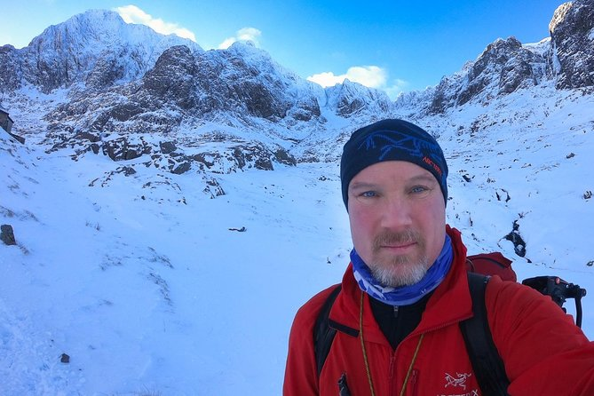 Coaching in winter mountaineering skills in the stunning Scottish Highlands. You will even get a 4K professionally edited video of your adventure so you can keep more than memories