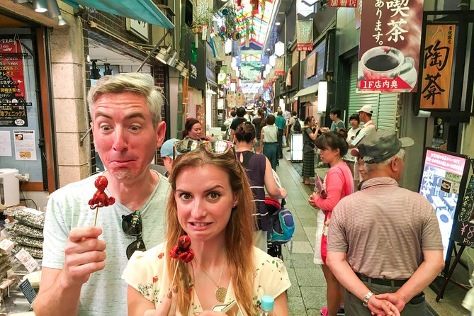 Gain a riveting introduction to Kyoto's food culture with this small-group guided tour. Begin with the 400m long Nishiki Market, nicknamed 'Kyoto's Kitchen,' where over 130 food shops and stalls will beckon your taste buds. Learn about its food culture, history and taste the unique dishes including: Tofu Skin, sesame cracker, Japanese pike conger eel, omelet, Croquette and Japanese Sake. Rest your appetite by a nearby shrine dedicated to the God of Education (Nishiki Shrine). Follow this up by sauntering through the famous Pontocho Geisha Alley- a narrow street. It's lined with enduring shops and traditional restaurants waiting to be explored, and the complete dismal of cars and modern buildings invites you further to be engrossed by the mesmeric surroundings. Here, alongside our final destination, Gion district is renowned for Geisha living area. Not only will you be educated about this classical tradition, you may have the chance to even meet one but if you are lucky!