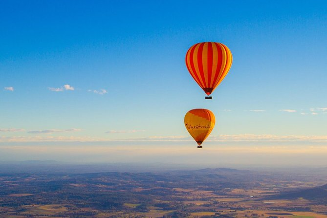 View a sunrise with a difference, whilst floating in a hot air balloon over the Hinterland. Breathe in the wide-open spaces and be amazed at the colorful spectacle of other balloons in the morning sky. After landing, enjoy hot air balloon pack-up games followed by a hearty breakfast with champagne at O'Reilly's Grand Homestead and Boutique Vineyard.