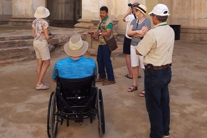This off-shore excursion is specially designed for all those cruise passengers traveling with 1 passenger in a wheelchair arriving in Guatemala at Puerto Quetzal. Antigua´s cobblestone streets and stairs make it complicated to move freely and easily in a wheelchair, so the tour includes a helper/assistance to lift up the chair whenever needed. <br><br>The tour is private and flexible based on your ship's arrival and departure hours.