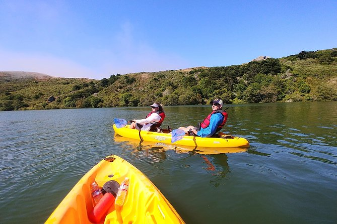 Enjoy the tranquility of a mellow guided kayak trip at the mouth of the Russian River. Breathe in the fresh sea air, see the seagulls and pelicans fly around and have curious harbor seals pop up beside you! It's a gentle, easy paddle with great views of the coast, the mouth of the river and the perched village of Jenner. Suitable for all abilities, this includes a guide to help you and explain what you see in this stunningly beautiful place. A nice lunch at the end of the trip rounds out your day.