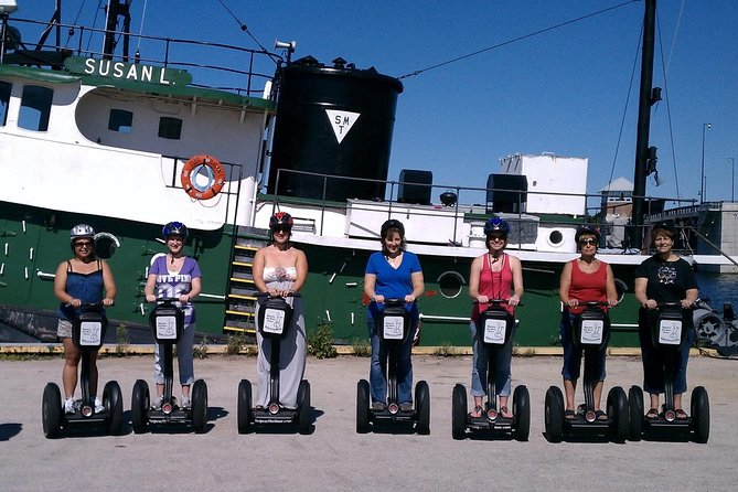 """Sturgeon Bay's Growth through the Centuries<br><br>You will breathe in the fresh air of Sturgeon Bay's canal as you visit many of the city's highlights, including the historic Steel Bridge, Graham Park, the Downtown District, a history museum, and more.<br><br>On this fun Segway glide, you will pass over the historic Steel Bridge, see the Bay Shipbuilding shipyard, visit Big Hill, and the Louisiana Street Historic District.<br><br>The city is split in half by a canal. Sawyer used to be on the south bank and Sturgeon Bay on the north. You will pass over the historic Steel Bridge as you make your way to Bay Shipbuilding shipyard, the old rail station, and Big Hill Park. Along the way, you will learn interesting nuggets of Sturgeon Bay history.<br><br>The people of Sturgeon Bay love watching you as you fly by on your Segway! You will have experienced the diversity of the only """"city"""" in Door County by the close of this fantastic tour full of interesting sites.<br><br>For a tour today call!"""
