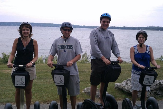 We have 10 different tours in Door County! <br><br>Baileys Harbor Ridges Road Segway/Hike Tour<br><br>You will be fascinated by the fishing and mining history of Door County as you glide down Ridges Road on your Segway. Included is a 2-mile hike and a visit to one of the only local fish markets in Door County.<br><br>Life on Ridges Road: Past & Present<br><br>This combined Segway tour and hike includes a 2-mile guided hike into the Toft Nature Preserve and a visit to the fish market of one of the remaining local fishing families in Door County.<br><br>You will glide down historic Ridges Road, which passes through the Ridges Sanctuary and Toft Point Nature Preserve. The sanctuary is part of a geographic wonder and the nature preserve is a beautiful area full of wildlife and breathtaking plant life.<br><br>This glide includes a stop to sample Lake Michigan fresh fish, a visit to the fishing boats, and a hike through beautiful scenery and an old settlement in the woods.<br><br>For a tour today call!