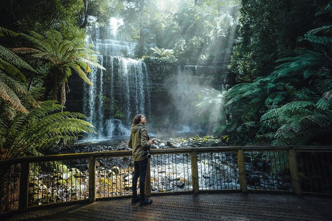 See a sample of Tasmania's Temperate Rainforests, Waterfalls, Wildlife and historic villages all in a 7-hour day tour from Hobart. <br><br>The tour takes you into the Derwent Valley, past New Norfolk into rich farming land featuring Oast Houses and Hop fields. Visit the Salmon Ponds followed by Mt Field National Park where you will be able to walk to Russell Falls before lunch at Waterfalls Café.<br><br>After lunch you will travel back towards Hobart for a native wildlife experience at the Bonorong Wildlife Sanctuary followed by a visit to the historic village of Richmond.<br><br>If you prefer, and with time and weather permitting there is an option to include a trip to the pinnacle of Mt Wellington for spectacular views over Hobart and the surrounding area.<br><br>The tour includes an expert guide that can customise the experience. You will be travelling in a group with no more than 20 people. Suitable for cruise ship tour excursions from Hobart.