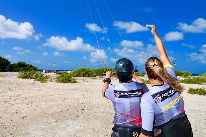 This course is perfect for you if you are a beginner in kitesurfing with no or just a few experience. Our goal is making you even more excited about kitesurfing! In a safe step-by-step instruction model, you'll get used to the kite. It's our goal to create a big smile on your face after your first lesson with us!<br><br>We teach with the newest and safest equipment, and the most updated teaching techniques. All our instructors have extended experience in teaching kitesurfing according the International Kiteboarding Organization (IKO) methodology. <br><br>We teach these lessons with a private instructor supporting you from a boat that is constantly with you on the water securing maximum of communication, safety and attention.