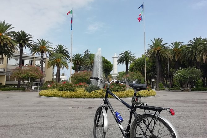"""San Benedetto has some of the most beautiful bike paths in Italy. You can ride for miles while enjoying the palm-lined streets and nearby sandy beaches. Our ride will include a tour of historic San Benedetto, which began as a hillside fishing village. Here we will see the traditional fishermen's houses and the famous """"lu turrio"""" Tower, a watchtower build to defend the city. During the tour we will enjoy with local seafood and classic regional wines."""