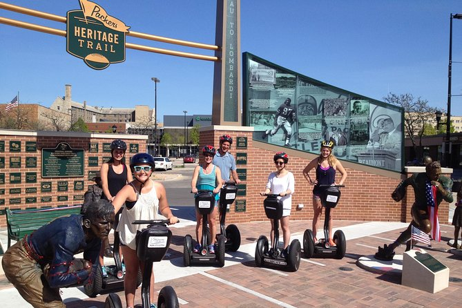 Visit the Beginnings of the Packer Franchise<br><br>Calling all football fans! If you want to learn all about the Packers while riding a Segway, this is the perfect Green Bay tour for you.<br><br>This tour visits many of the 22 bronze plaques, locating sites where Packer history unfolded. We also enjoy the Segway ride along the Fox River Trail. This has a similar route to the Everything Green Bay tour but with a different focus.<br><br>More information: the Packer Heritage Trail was established a few years ago to show people the rich history of the Packers in the downtown area. Segway gliders have been some of the first to experience again the early years of the Green Bay Packers. Sure, you could walk it, but everything is more fun on a Segway PT! You will glide over the Ray Nitschke Bridge, down the City Deck along the Fox River, and around the downtown area.<br><br>Visit our website to discover all of the tours we offer.<br>For a tour today call!