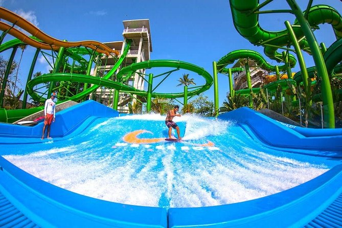 Exciting water slides slice through 3,8 meters of landscaped tropical parks providing hours of fun and entertainment for the young and young at heart! World-class slides and rides are built and maintained to strict international safety standards. The advanced salt chlorination technique is soft on the environment and on your skin. The ultimate escape to relaxation or thrills. Whatever satisfies the soul most! A globally acclaimed waterpark that guarantees a day of fun!