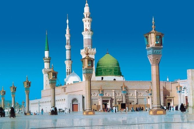 Madinah Munawwarah or Medina al-Munawwarah (المدينة المنورة ) is the second most holy city for Muslims because there is Masjid-e- Nabawi where Muhammad's tomb is located. <br>Medina is 210 miles (340 km) north of Mecca and about 120 miles (190 km) from the Red Sea coast. <br><br>After picking your from your location, our tour will start from Masjid-e-Quba, the first mosque built by Muslims, then Masjid-e-Qiblateen where Muhammad (PBUH) received the command to change the Qiblah. Masjid-e- Juma where Muhammad (PBUH) prayer first Juma. 7-Mosques is a complex of six small historic mosques, Shuhada Uhud and Hazarat Salman Farsi Garden (Dates) are also included in our visits.<br><br>- Air-Conditioned Vehicles<br>- Reliable and Affordable Private Visit<br>- All our Drivers are expert Knowledge of Madinah Holy Places / Ziyarat<br>- Ride flexibility