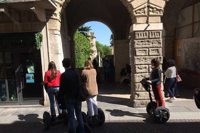• 3-hour Segway tour lead by an expert local guide <br>• See top Mantova. From piazza Marconi to piazza Mantegna that, together with the adjacent piazza Erbe, forms the city centre where stands the Saint Andrew's Basilica, celebrated work of the Renaissance art.<br>We get to the picturesque piazza Erbe with its medieval buildings; the Reason's Palace and Saint Laurence's Rotunda being the most outstanding ones.<br>We arrive in piazza Sordello to admire the Ducal Palace or Gonzaga Royal Palace and moreover the Cathedral and Bonacolsi Palace, and then we continue towards the lakes.<br>Our back course gets onto piazza Castello and provides even more surprises before heading back, along comfortable and safe paths, to the arrival at the Tea Palace.<br>• Hear tales of colorful history from a knowledgeable guide <br>• Enjoy a Segway sightseeing tour that's suitable for all fitness levels <br>• Small-group tour with a maximum of eight people ensures a personalized experience