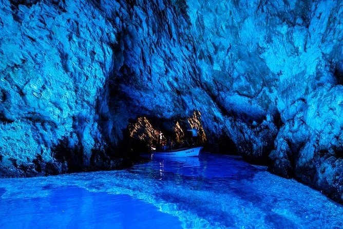Discover several Dalmatian islands and caves in one day, starting from Split.<br><br>Visit the Blue cave on island Bisevo, explore the caves around island Vis and Ravnik...Swim and snorkel at Smokova bay sandy beach on island Vis. Visit Hvar town and experience a wine tasting on Island Brac in a 370 years old wine cellar. Have lunch at a unique location. Travel fast and safe with reliable boats, hosted by a professional crew who are doing their job with lots of passion and fun!