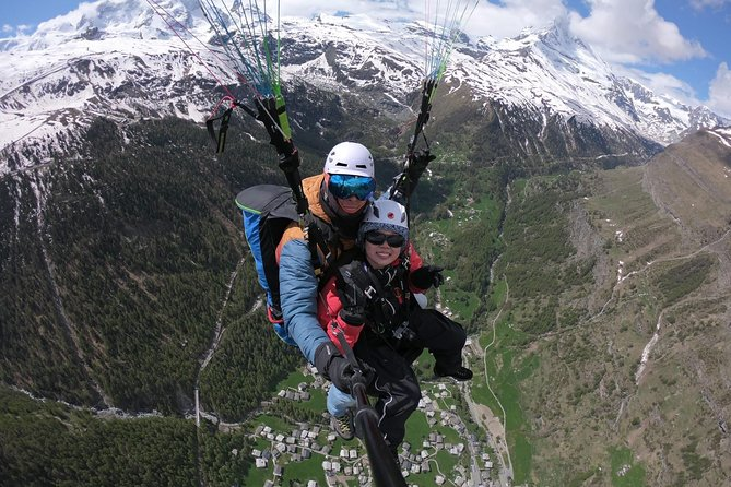 Paragliding mountain flight, Zermatt, Switzerland