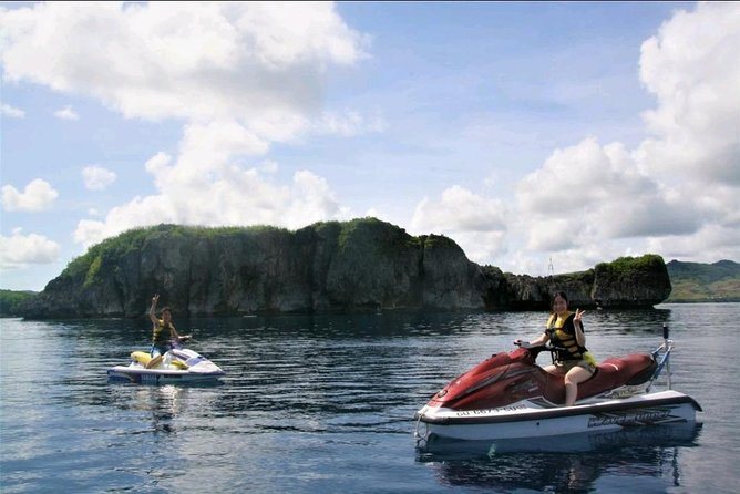 Only at TIMS, Guam can you experience the jet ski ride to Turtle Rock Island. Fun thrilling experience where you are able to see sea turtles along the way and even dolphins if you are very lucky!