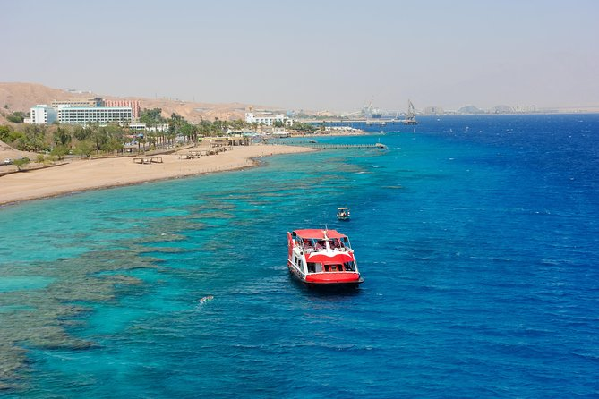 Take a tour on a glass bottom boat on the Red Sea in Eilat, to see the underwater life. See the amazing marine life in this colorful world. This is a 2 hour excursion on a well equipped boat for your pleasure. No need to get wet, view it all while having a drink or a snack, sitting back and relaxing.
