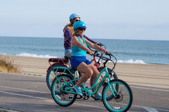 You will pick up the electric bikes at our store and receive brief training and directions on where you can go on this self guided ride.  Then you will enjoy riding an electric bike along the coastline in Carlsbad for 3 hours.  Check out the surfers and the waves crashing on the beach.  The bike lane parallels the beach for approximately 6 miles and then continues through the quaint little towns.  There are plenty of places to stop along with way and sit on the beach, shop or get a bite to eat.