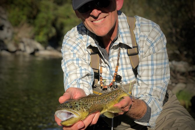 Fly Fishing For Marble And Brown Trouts In Italian Alps, Bergamo, Itália