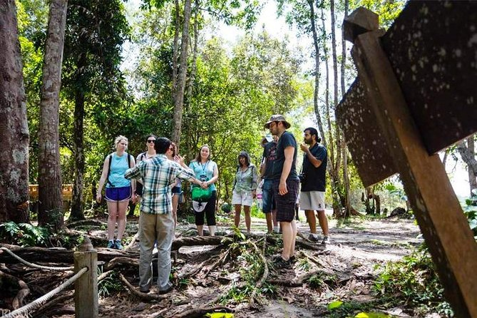 Discover the Phnom Kulen National Park with a full-day guided tour departing from Siem Reap. Visit Kulen Waterfall, the River of a Thousand Lingas, and journey to the top of the mountain to find the world-famous Reclining Buddha. Tour is led by an Apsara Authority certified guide and ranges from 7 - 10 hours in duration. Small-group trip is limited to a maximum of ten participants and includes hotel pickup and drop-off.