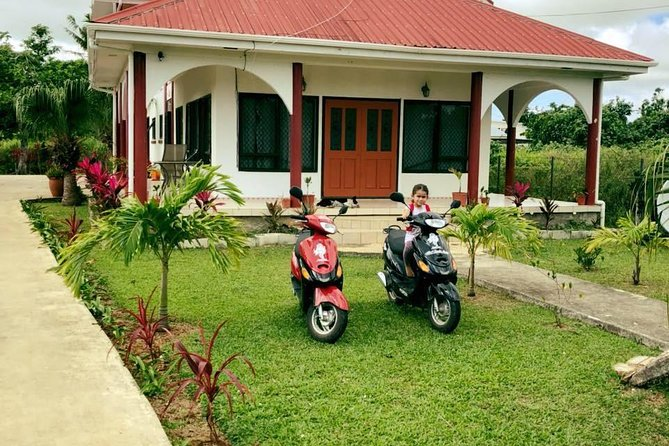 You would not find places to rent scooters in Tonga, but it is the most economical way to get around the island and most enjoyable for most . We will provide you with a tour map to help guide you our Island.