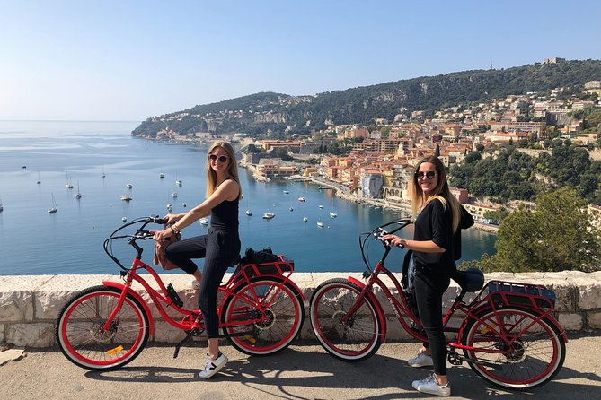 """VISIT THE BEST HIGHLIGHTS OF NICE!<br><br>Start your tour on the Promenade des Anglais, the meeting place with your guide.<br><br>Take a large cycle lane along Old Nice to get used with your comfortable Pedego and to<br><br>go to the Rauba Capéu quay, the must see city attraction with its #ILOVENICE sign.<br><br>Then, your powerful electric Pedego will take you effortlessly on the top of the Castle Hill offering wonderful panoramic views of Nice. Your guide will give you some historical and fanny facts.<br><br>Continue your tour in the port of Nice, where you will see luxury yachts and small fisherman boats """"les pointus"""". Reach the highest hill above Nice, Mont Boron, and enjoy an impressive view of the whole city.<br><br>Your tour will finish in the amazing district of Cimiez, filled with cultural and historical treasures. You will admire the ruins of antique town and its Roman Colliseum, Marc Chagall and Matisse Museums.<br>"""