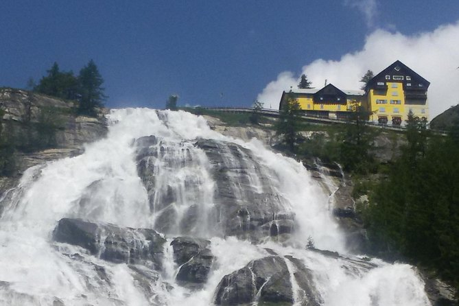 Discovering the Alps: the powerful Toce waterfall, Lago Mayor, ITALY