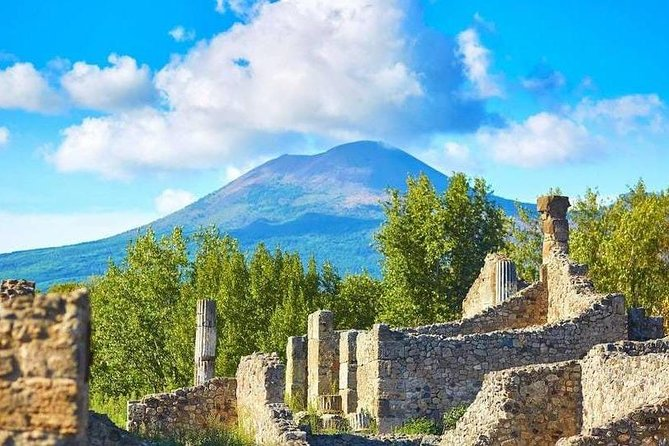 Spend an unforgettable day discovering, with our licensed guide, the archaeological site of Pompeii and the natural beauty of the Volcano Vesuvius. Thanks to the priority entrance you will skip the stress of a long queue and get inside the ruins without troubles!<br><br>Our guide will lead you into a 2h guided walking tour of the ruins bringing back to life the lifestyle and architecture of the prosperous Romans. Pompeii is well preserved thanks to the mud and lapilli which petrified the city saving all the infrastructures.<br><br>In the second part of the tour the bus will drop you off at 1.000 mt high; from there you can climb till the crater's edge.<br><br>The walk is pleasant and the view from the top is unmatchable!.