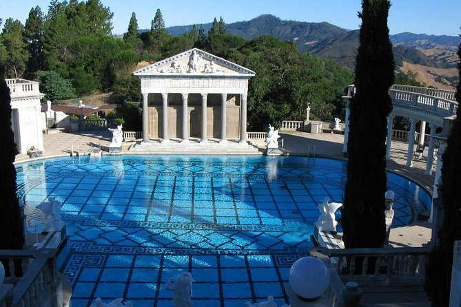 Enjoy the scenic views on this 5-6 hour, small-group tour to Hearst Castle. Once you arrive at Hearst Castle watch the National Geographic IMAX Movie, Building the Dream, and learn about the construction of the landmark. Then, take a tour of the castle to discover its many rooms and secrets. <br><br>This tour includes pickup and drop off from Cambria, entrance fees, lunch, and a driver/guide.