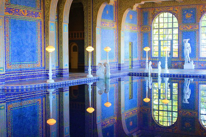 Enjoy the scenic views on this 7-8 hour, small-group tour to Hearst Castle. Once you arrive at Hearst Castle watch the National Geographic IMAX Movie, Building the Dream, and learn about the construction of the landmark. Then, take a tour of the castle to discover its many rooms and secrets. <br><br>This tour includes pickup and drop off from Pismo Beach, entrance fees, lunch, and a driver/guide.