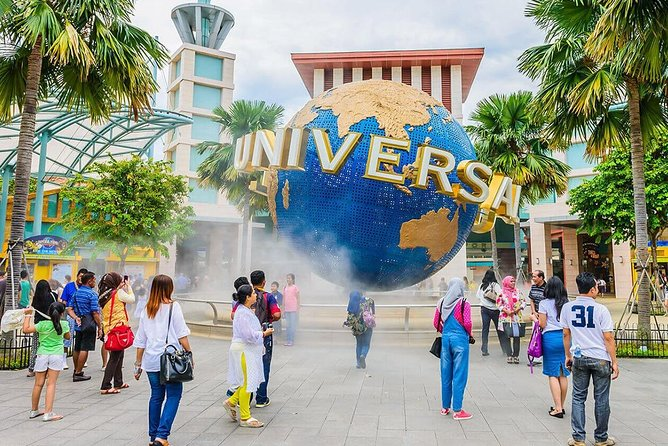 Go beyond the screen and Ride The Movies at Universal Studios Singapore. Only here can you experience cutting edge rides, shows, and attractions based on your favorite blockbuster films and television series at one of only 4 global locations! <br><br>With Universal Studios Singapore Tickets (1 Day Pass), you can visit the park's 24 rides and attractions that will satisfy every cinematic fantasy, including the Battlestar Galactica dueling roller coaster, Jurassic Park river rapids, and a 4D Shrek show. The 50 acre park has 7 different movie themed zones: Hollywood, New York, Sci-Fi City, Ancient Egypt, The Lost World, Far Far Away and Madagascar. Universal Studios Singapore is sure to indulge the thrill seeker or movie buff's every fantasy.
