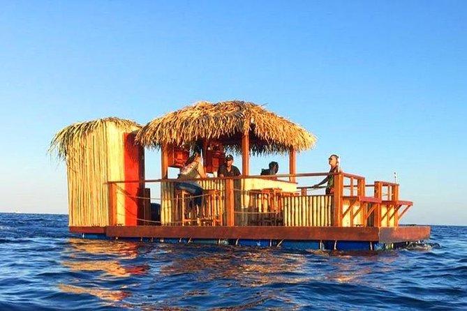East End Private Floating Tiki Bar Getaway plus Transportation, Roatan, HONDURAS