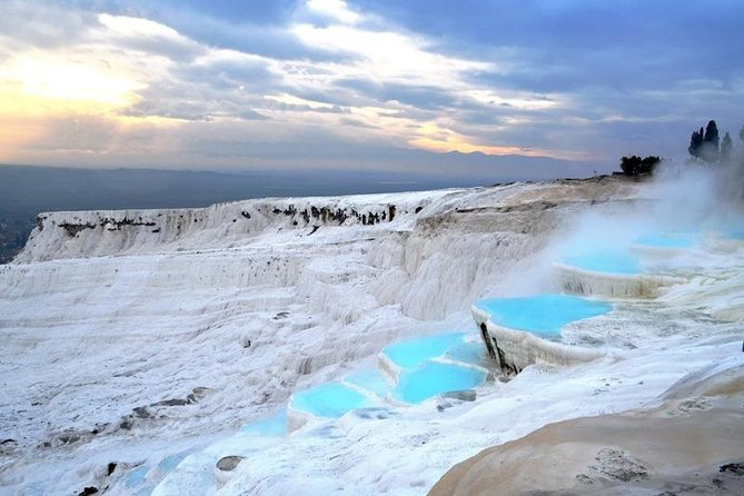You can discover the Pamukkale and surroundings with this well planned daily trip from Istanbul. Take a dip, amongst ancient columns, in the hot springs that were used in Roman times for their therapeutic powers. The tour is including round trip flight tickets from Istanbul, transportation, pick-up & drop-off services for hotels in Istanbul, professional guiding, entrace fees and delicious lunch.