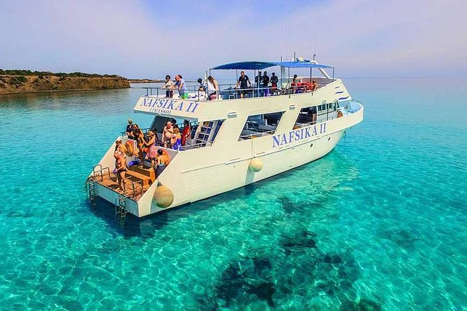 Discover The Akamas Peninsula on a Boat Trip from Latchi with Cyprus Mini Cruises. Be part of our family owned business that was founded by our Grandfather Captain Giangos in 1982.<br><br>Today our business is known worldwide as the largest cruising company in Latchi.<br>Join us for stunning daily cruises along Akamas coastline and to the Blue Lagoon. Come aboard on Nafsika II in the morning, or the afternoon, or for our special sunset cruises.<br><br>If you'd like something a little more traditional, the Koulla ('the famous BBQ boat') is the one for you.<br><br>Thousands of satisfied customers have cruised with us and are left with memories that last a lifetime. Join us and meet people you will never forget; for a day you will always remember!<br><br>We'll ensure that you have an enjoyable and authentic Cypriot experience. Our hospitality and safety is well known. You will see the famous Baths of Aphrodite, Saint George's island, sea caves at Manolis bay, Blaji bay, Fontana Amoroza and theBlue Lagoon<br>
