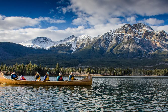Wild Current Canoe Adventure at Pyramid Lake, Jasper, CANADA