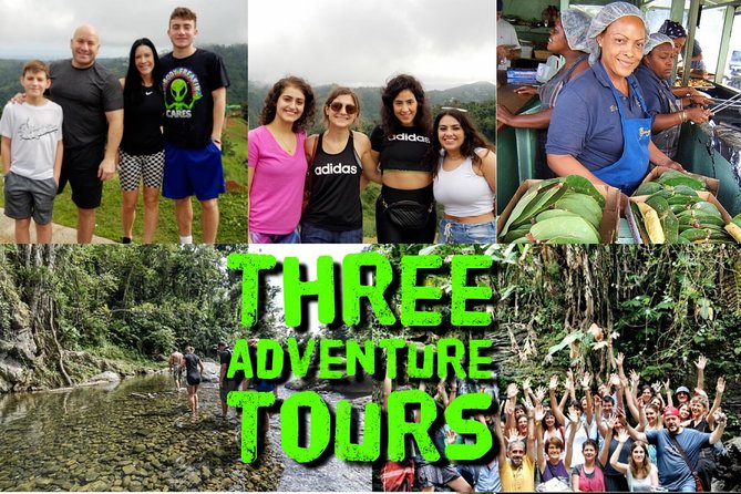 If you are looking to save time and money, this is the best way. You may do 3 of our best-seller tours on the same day. Discover the rainforest and Luquillo beach during the day and at night relax and enjoy the beauty of the world wild know bioluminescent bay kayaking tour.<br><br>Information: <br> • Minimum age is five years old <br> • Excursions available only on Tuesday <br> • Pick up at 10:00 am return at 10:00 pm approximately <br> • We stop for lunch ( not included )<br> • Recommendations: <br> • Swimsuits already on and towels <br> • Wear Tennis shoes that have a grip or hiking shoes (Recommended) <br> • Dress comfortably, such as in a t-shirt and long pants (NO Jeans) <br> • Long-sleeve rashguard <br> • Rain jacket or poncho <br> • Sunblock, sunglasses and a change of clothes <br> • Comfortable shoes (sandals, flip-flops, etc.) for after the tour