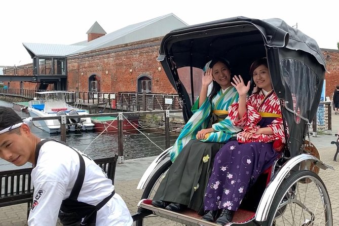 【OUTLINE】<br>The starting spot is just 1-minute walk from Hakodate Station!<br>It is a tour visiting the Hakodate Bay area centering on the Mori Red Brick Warehouse, wearing a Western-style kimono called Hakama on a rickshaw. Feel the history of the town, while watching the semi-Western style buildings, and the oldest telegraph pole in Japan. Enjoy the rickshaw ride while feeling as if you traveled back in the 19th century. You will have an unforgettable moment while immersing yourself in a nostalgic vibe in Japan.<br><br>【HIGHLIGHTS】<br>・Luxury cross-cultural experience on a rickshaw!<br>・Commemorative photo in the Western-style kimono called Hakama<br>・Look around the city without worrying about crowds and bad weather<br>・There are many Insta-worthy spots in the 19th century cityscape<br>・30 minutes only to enjoy the main area of Hakodate